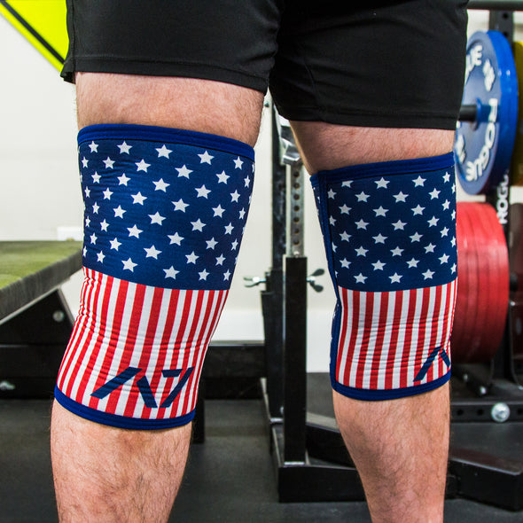 CONE Knee Sleeves - USPA & IPF Approved - Stiff - Americana