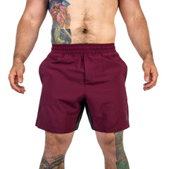 Men's Center-stretch Squat Shorts - Mahogany