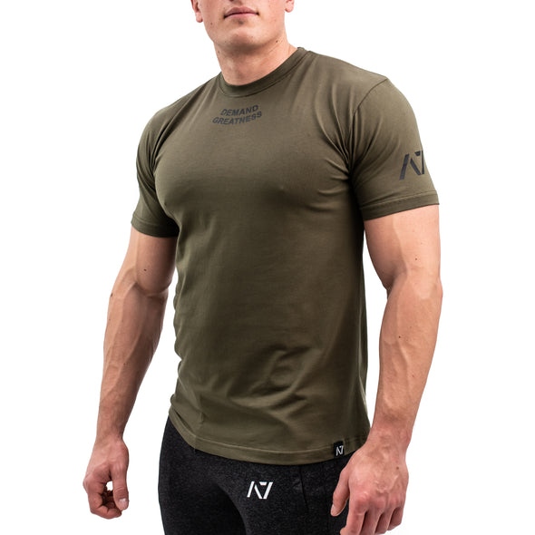 Demand Greatness IPF Approved Logo Men's Meet Shirt - Military