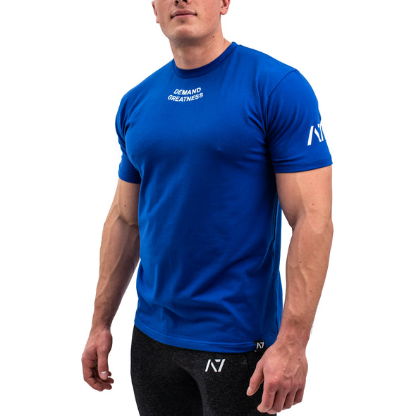 Demand Greatness IPF Approved Logo Men's Meet Shirt - Blue