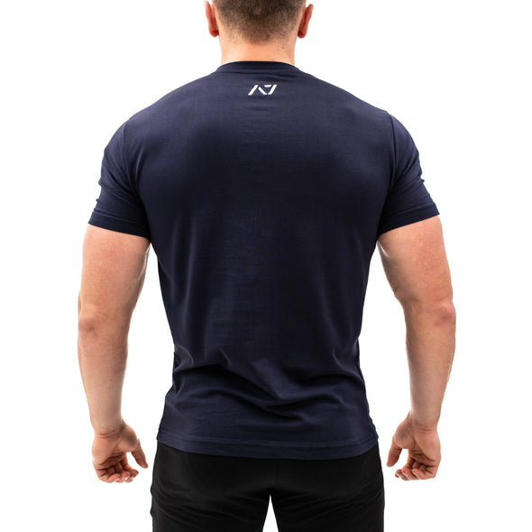 Navy V-neck Men's Shirt