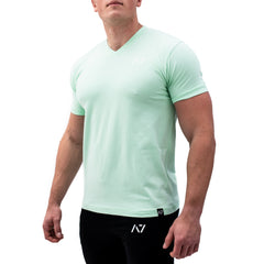 Mint V-neck Men's Shirt