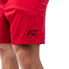 Men's Center-stretch Squat Shorts - Crimson