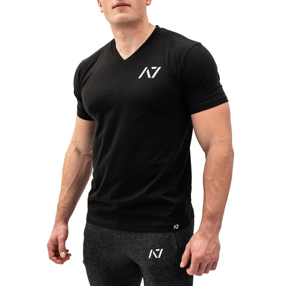 Black V-neck Men's Shirt