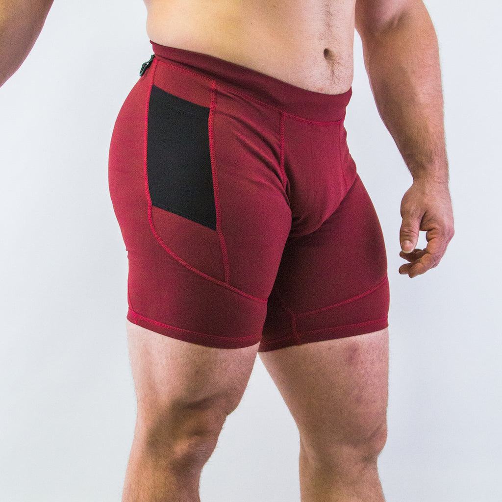 Men's OX Compression Shorts - Ox Blood
