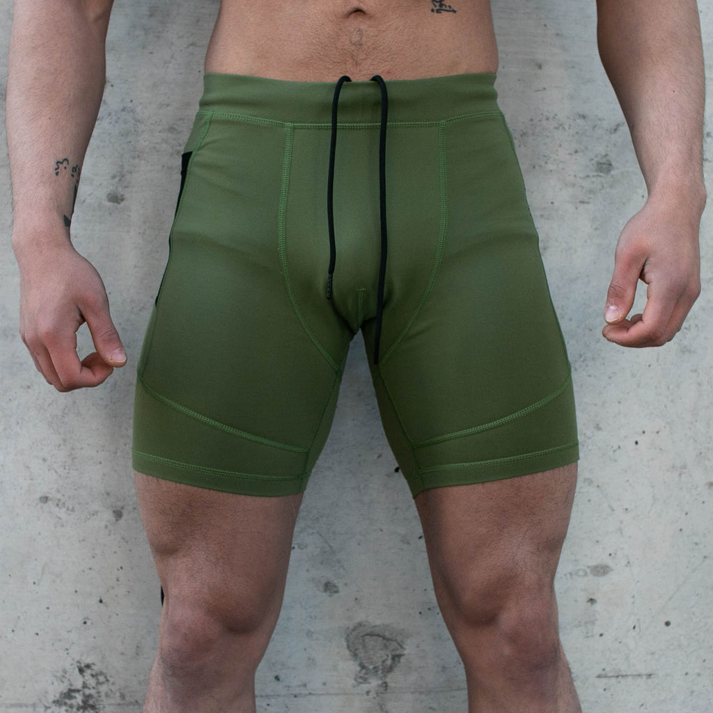 Men's OX Compression Shorts - Forest Green