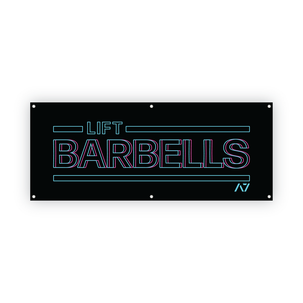 Lift Barbells Gym Banner