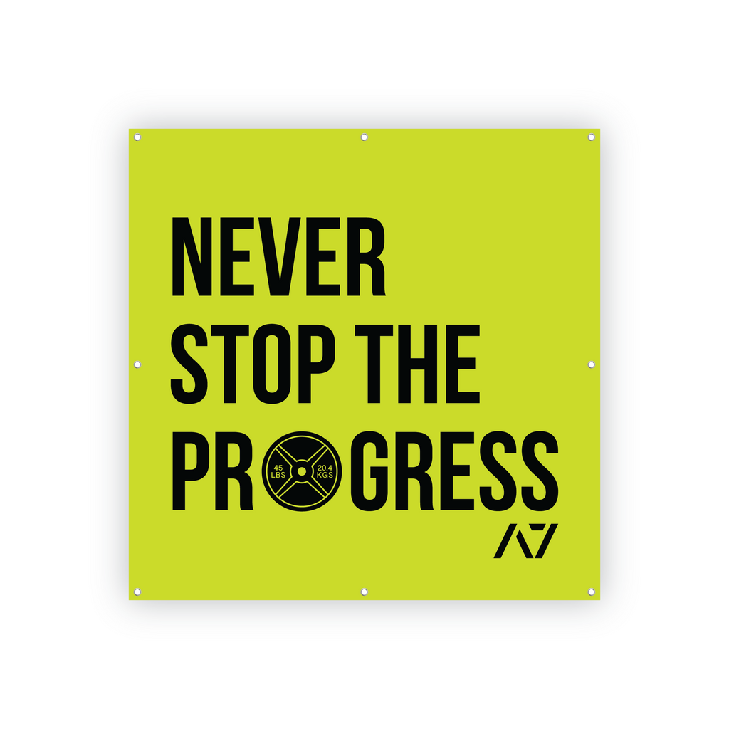 Never Stop The Progress Gym Banner