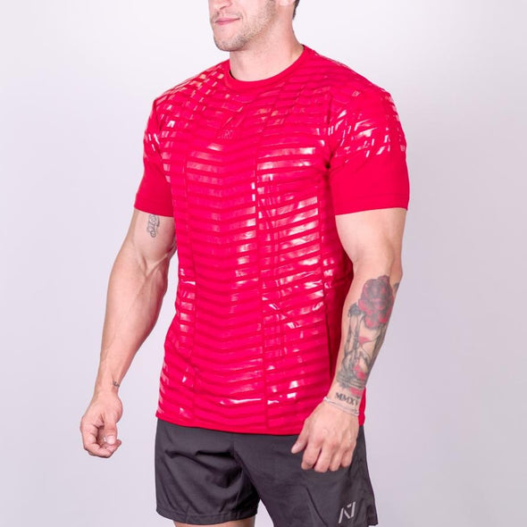 2019 Strongman Red Bar Grip Men's Shirt