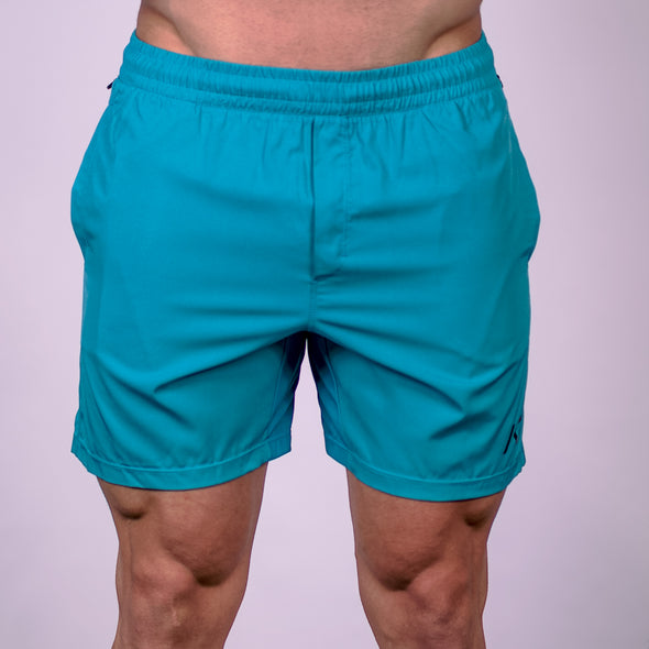 Men's Center-stretch Squat Shorts - Aqua