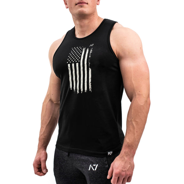 Patriot B&W Bar Grip Men's Tank