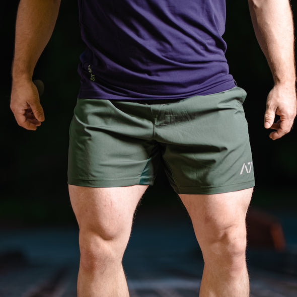Men's Center-stretch Squat Shorts - Forest