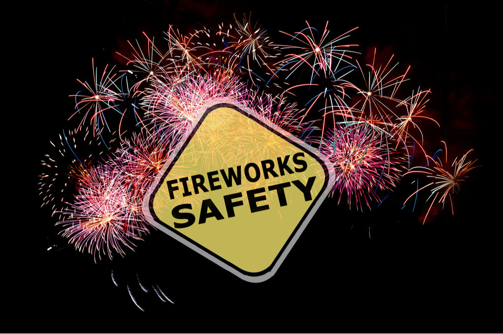 fireworks safety sign