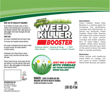 Agricultural Weed Killer Booster