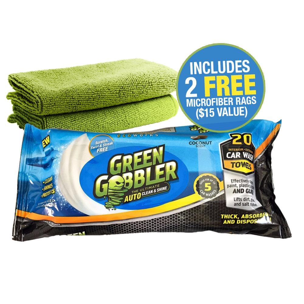 Waterless Auto Towels with 2 Microfiber Cloths