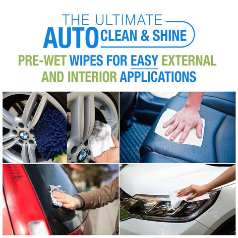 Waterless Auto Towels with Microfiber Mitt