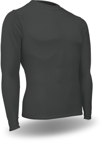 603L-CB Men's Football Long Sleeve Crew Neck Compression Shirt