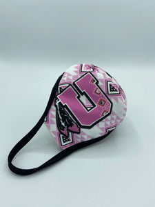 Women's Utah Utes Face Mask Reusable Double Ply w/Elastic Earloops