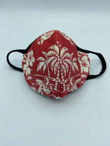 Aloha Hawaiian Designed Face Masks Double Ply Reusable Protective Face Mask- with Elastic Ear loops (Sublimated Designs)