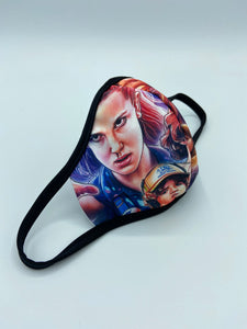 Youth Designed Double Ply Reusable Protective Face Mask- w/Elastic Ear loops (Sublimated Designs)
