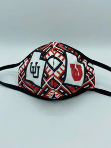 Utah Utes Face Mask Reusable Double Ply- W/Elastic Earloops - Multiple Designs