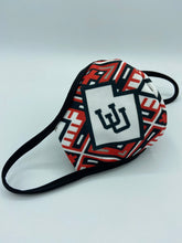 Utes Face Mask Reusable Double Ply- W/Elastic Earloops