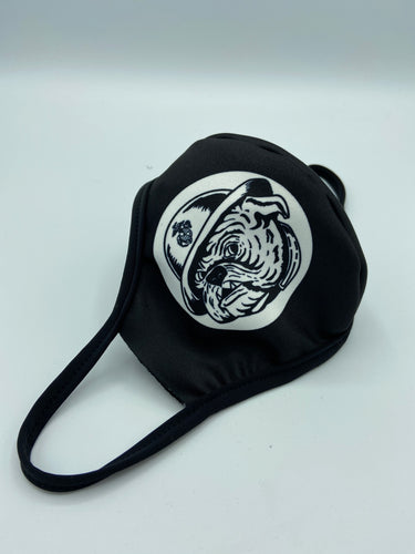 Bulldog W/Marine Corp Logo Face Mask Reusable Double Ply W/Elastic Earloops