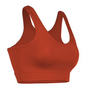 NL-230-CB Women's Nylon Lycra Training Sports Bra w/ Double Ply Liner
