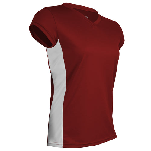 PT-823PC-CB Women's Performance Tech Shirt w/ White Side Panels
