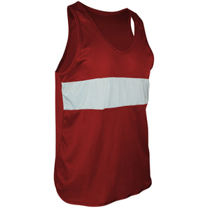 TR-960-CB Men's Tricot Chest Paneled Singlet