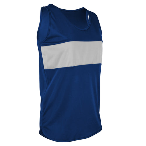 TR-960W-CB Women's Tricot Chest Paneled Singlet
