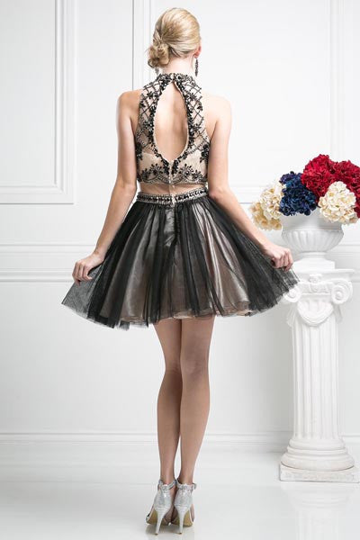 SHORT MOCK TWO PIECE HOMECOMING WEDDING DRESS