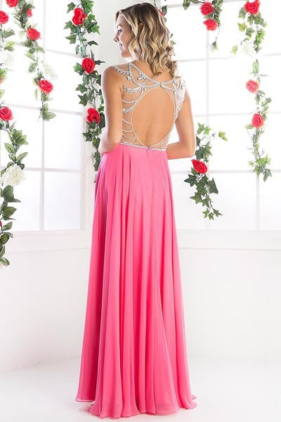 Old fashion Elegance Pearls and Chiffon floor length gown