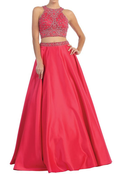 Prom or Formal Affair Full, Flared, Fantasy 2 piece gown