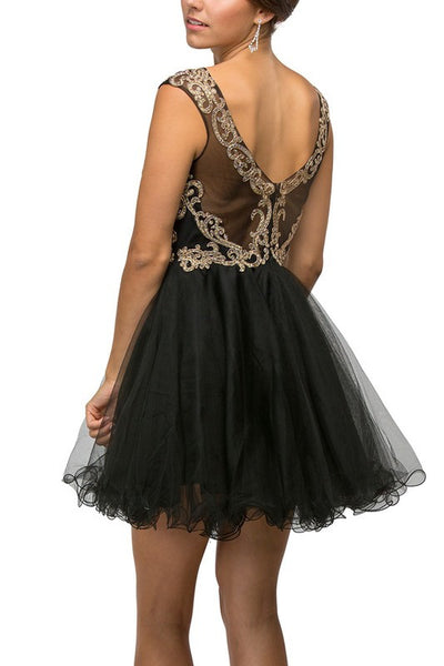 SHORT GOLD Mesh Sweetheart bodice homecoming, prom, Tulle and lace
