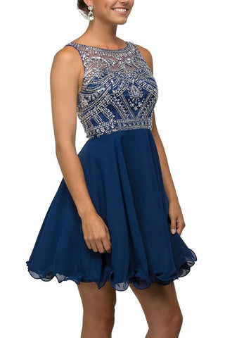 409-523 Dancing Queen Short Homecoming Dress