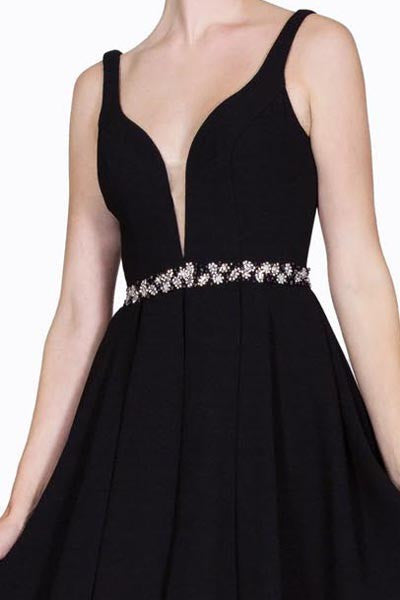 SIMPLE SHORT AND SWEET DEEP V FRONT DRESS HOMECOMING PROM