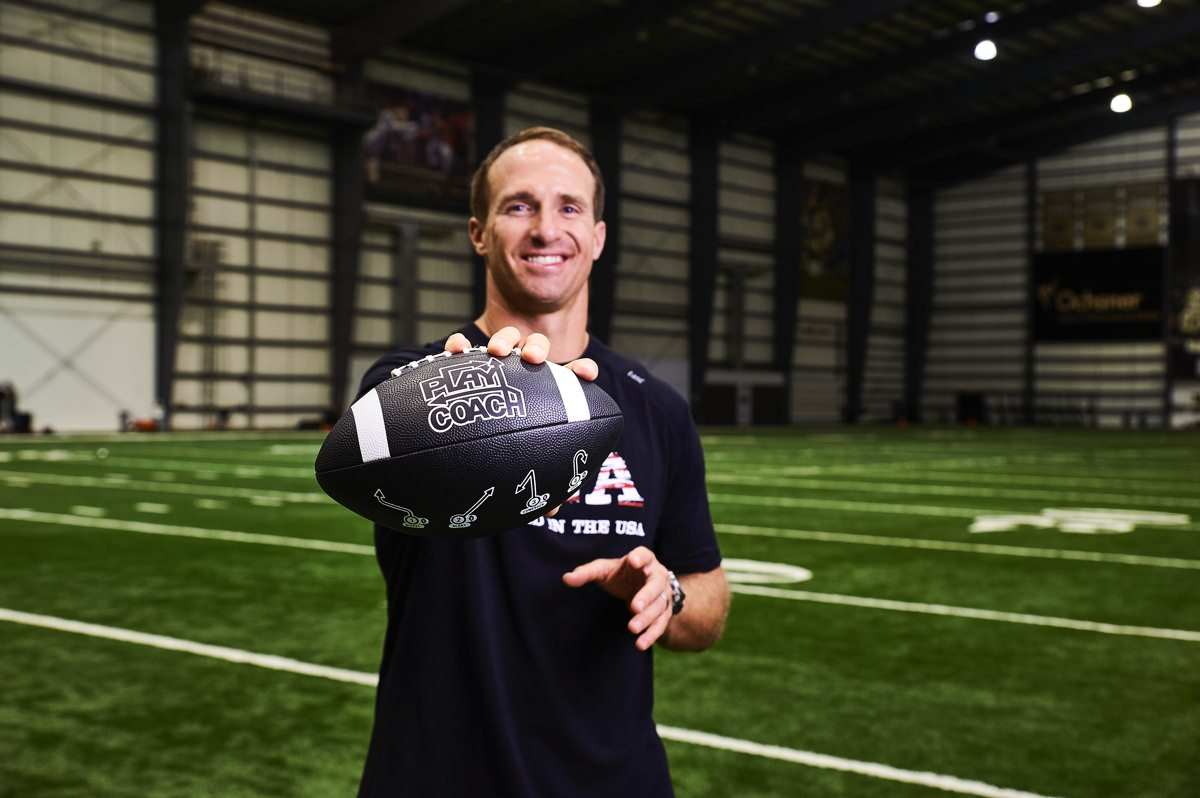 Drew Brees with PlayCoach