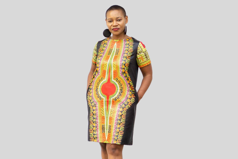Panashe African Dashiki Printed Dress