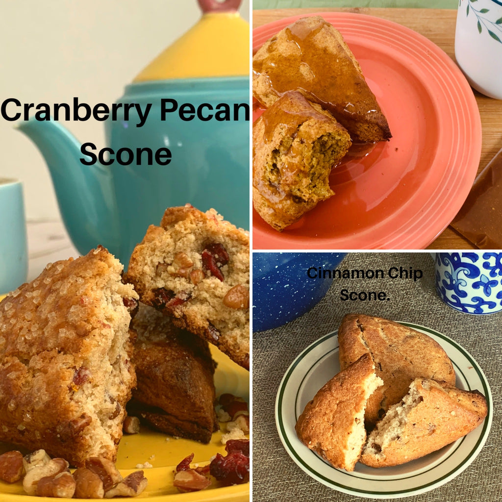 Cinnamon Chip Scones- 4 pack-comes baked or frozen-direct sales only- no shipping