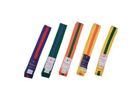 Striped Coloured Rank Belts