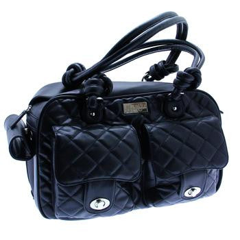 Allie Mia Michele Black Quilted Carry Bag