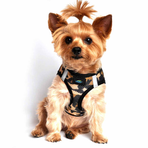 Doggie Design American River Camo Choke Free Dog Harness - Brown