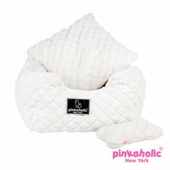 Pinkaholic Ivory Arctic Square Dog Bed