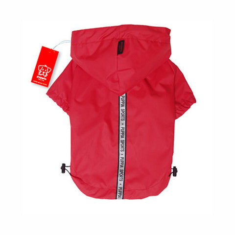 Puppia Base Jumper Raincoat Wind Breaker - Red