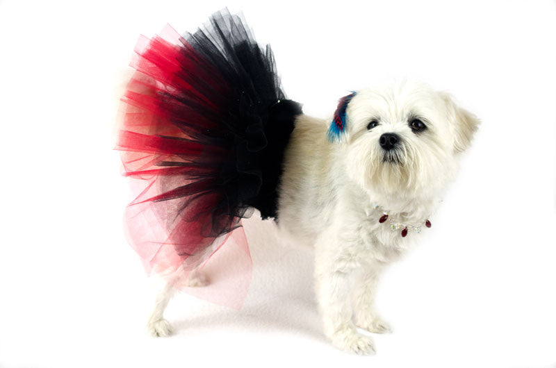 Diamonds of the Ruff Ruff Black & Red Tutu