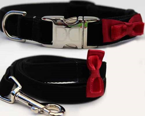 Diva Dog Bowtie Collection - Red All Metal Buckles