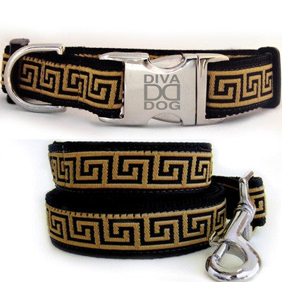 Diva Dog Caesar Collection- Collar & Leash- All Metal Buckles
