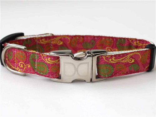 Diva Dog Kensington Collection Pink - Collar & Leash- All Metal Buckles