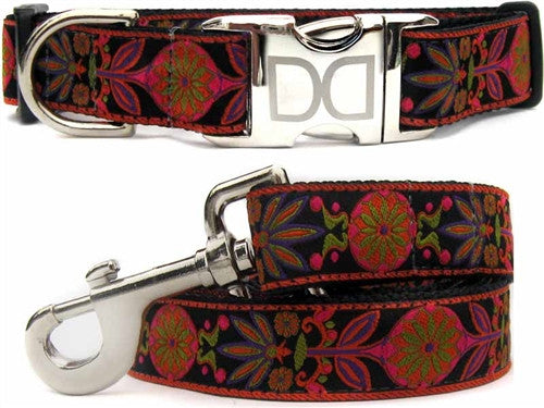 Diva Dog Venice Ink Collection - Collar & Leash -Metal Buckles
